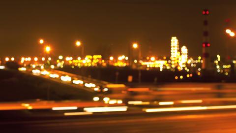 Night Road Lights Stock Video Footage