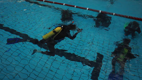 diving pool 13 Stock Video Footage