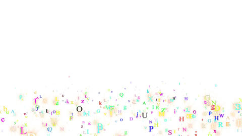 Alphabet, isolated on white background Animation