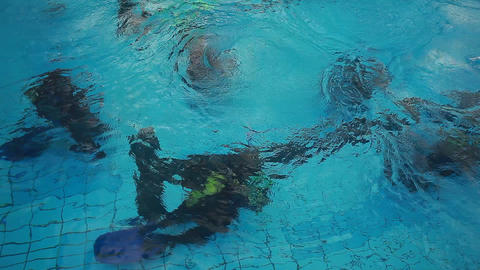 diving pool 28 Stock Video Footage