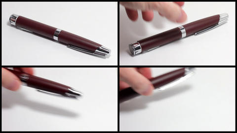 Set: Take and put the pen Stock Video Footage