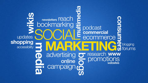 Social Marketing Stock Video Footage
