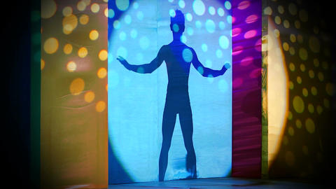 Male Dance Silhouette Stock Video Footage