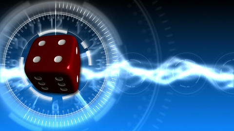 Casino Dice Background - Casino 31 (HD) Stock Video Footage