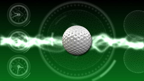 Golf Ball Background 04 (HD) Stock Video Footage