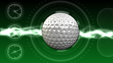Golf Ball Background 04 (HD) stock footage