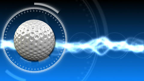 Golf Ball Background 06 (HD) CG動画素材