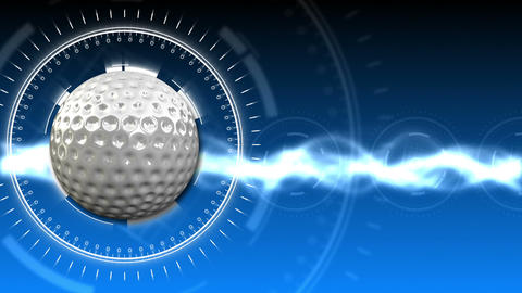 Golf Ball Background 06 (HD) Stock Video Footage