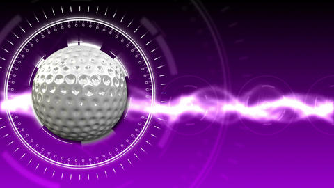 Golf Ball Background 08 (HD) Stock Video Footage