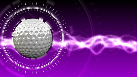 Golf Ball Background 08 (HD) Animation