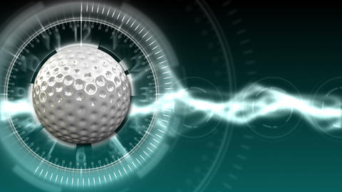 Golf Ball Background 10 (HD) Stock Video Footage