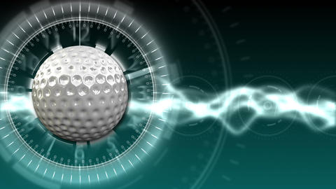 Golf Ball Background 10 (HD) CG動画素材