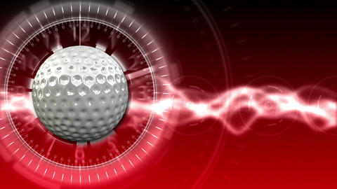 Golf Ball Background 12 (HD) CG動画素材