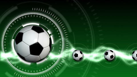 Soccer Ball Sport Background 07 (HD) Stock Video Footage