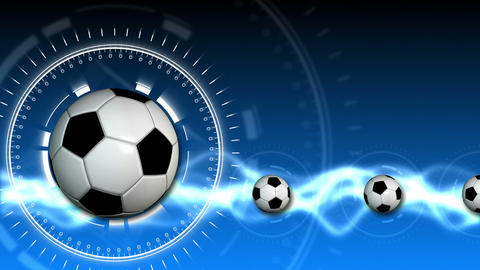 Soccer Ball Sport Background 09 (HD) Stock Video Footage