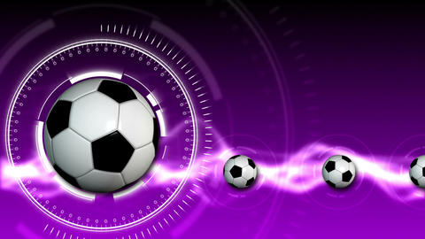 Soccer Ball Sport Background 11 (HD) Animation