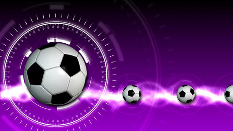 Soccer Ball Sport Background 11 (HD) Stock Video Footage