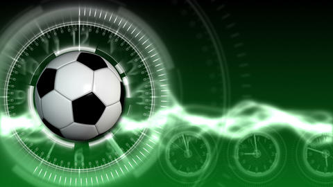 Soccer Ball Sport Background 13 (HD) Stock Video Footage