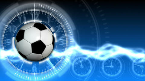 Soccer Ball Sport Background 15 (HD) Stock Video Footage