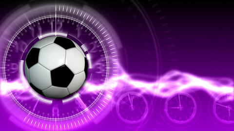 Soccer Ball Sport Background 17 (HD) Stock Video Footage