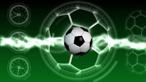 Soccer Ball Sport Background 19 (HD) Stock Video Footage