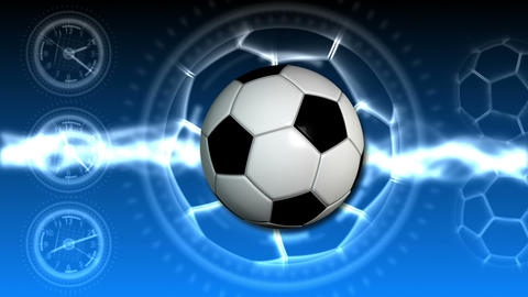 Soccer Ball Sport Background 21 (HD) Stock Video Footage