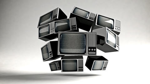 Retro TV with static Stock Video Footage