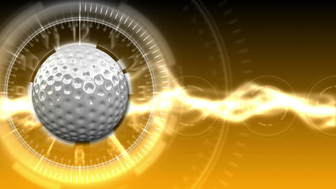Golf Ball Background 14 (HD) Stock Video Footage