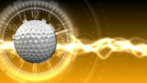 Golf Ball Background 14 (HD) CG動画素材
