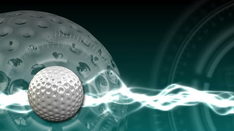 Golf Ball Background 16 (HD) Stock Video Footage
