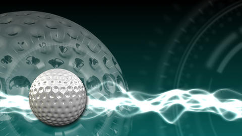 Golf Ball Background 16 (HD) stock footage