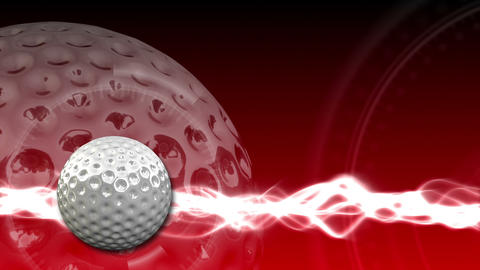 Golf Ball Background 18 (HD) CG動画素材
