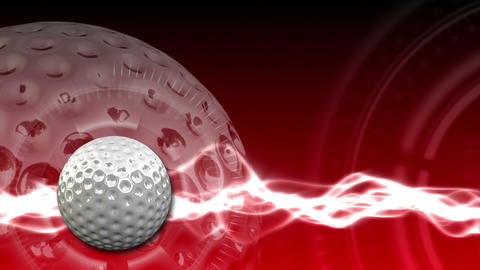 Golf Ball Background 18 (HD) Stock Video Footage