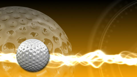 Golf Ball Background 20 (HD) Stock Video Footage