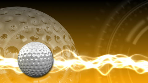 Golf Ball Background 20 (HD) CG動画素材