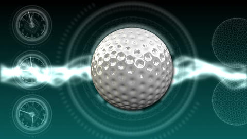 Golf Ball Background 22 (HD) CG動画素材
