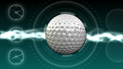 Golf Ball Background 22 (HD) Stock Video Footage