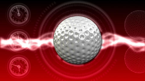 Golf Ball Background 24 (HD) Stock Video Footage
