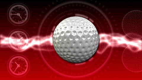 Golf Ball Background 24 (HD) CG動画素材