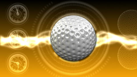 Golf Ball Background 26 (HD) CG動画素材
