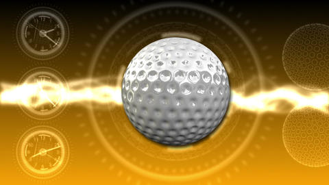 Golf Ball Background 26 (HD) Stock Video Footage
