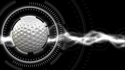 Golf Ball Background 28 (HD) Stock Video Footage
