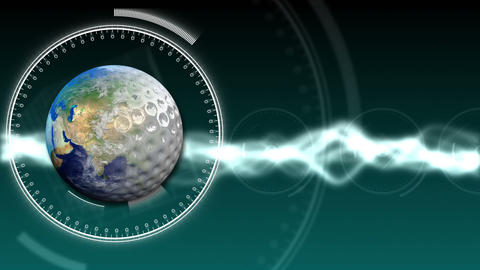 Golf Earth Background 30 (HD) Stock Video Footage