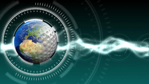 Golf Earth Background 30 (HD) stock footage