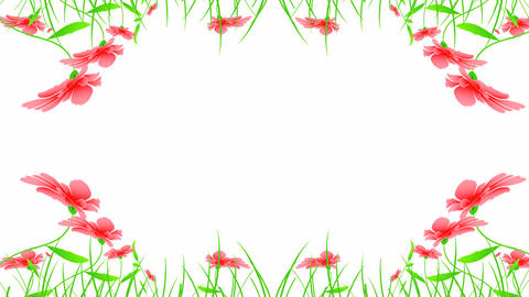 floral ornament mix Stock Video Footage