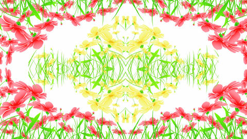 Floral Ornament Mix stock footage