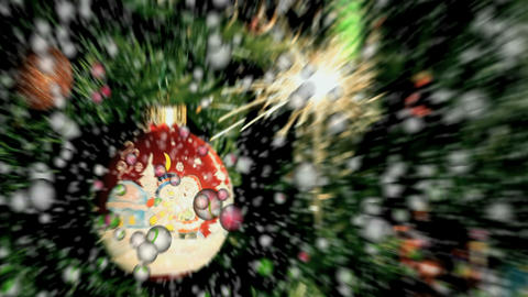 Christmas balls and snowflakes Stock Video Footage