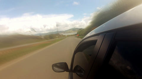 Countryside Car Trip 04 Stock Video Footage