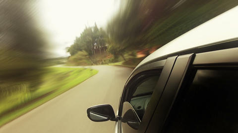 Countryside Car Trip 02 Stock Video Footage