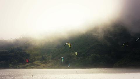 Kite Surf timelapse 01 Stock Video Footage